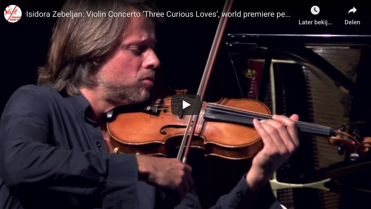 Isidora Zebeljan: Violin Concerto 'Three Curious Loves', world premiere performance